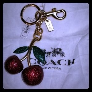 Coach cherries brand new with tags key fob